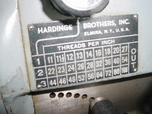 1983 hardinge lathe hlv-h,excellent condition,w/tooling