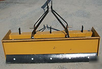 5 foot box scraper 3PT, fits john deere, kubota, ford