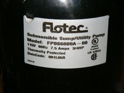 flotec floodmate sump pump - Flotec Sump Pump