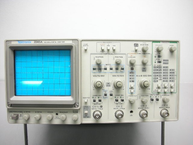 Tektronix Analog Oscilloscope : Tektronix a analog oscilloscope mhz channel