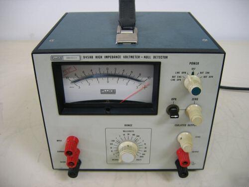 Fluke 845ab Null Detector Volt Meter