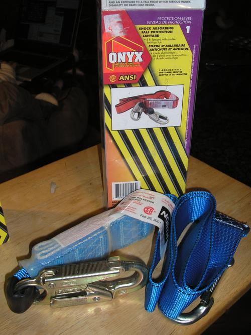 Onyx Car Parts : New onyx shock absorbing fall protection lanyard