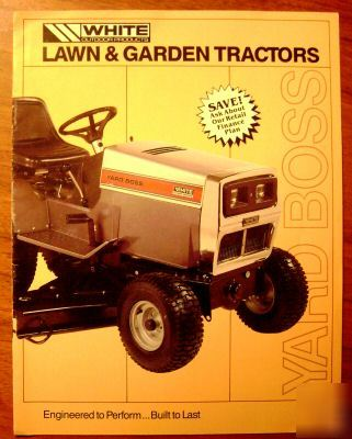 White lawn garden tractor sales brochure GT1855 to 1455