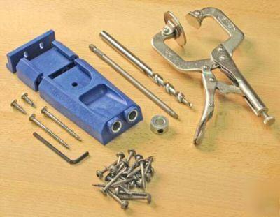 Kreg Pocket Hole Rocket Jig Kit C W Clamp Bit Screws