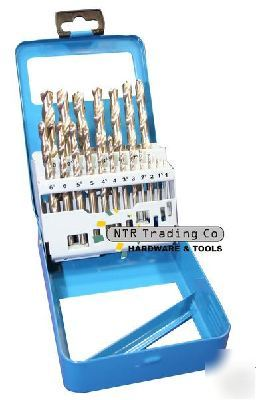 19PC high speed steel hss 1 - 10MM drill bit / bits set
