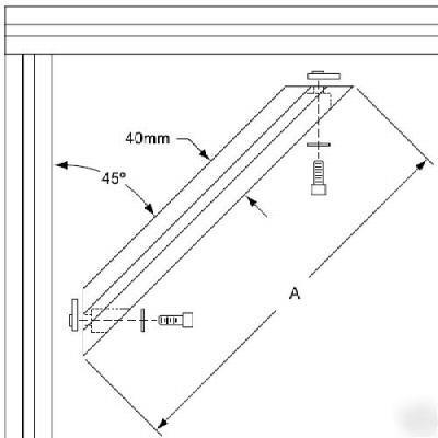 80//20 Inc 40 Series 40-4080 x 640mm Aluminum 45 Degree Support Part #40-2560 N