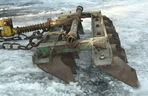 Corson clod buster drag plow mulcher atv tractor disk
