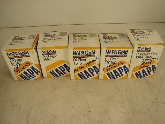 Napa Gold Mixed Lot Of Fuel And Oil Filters
