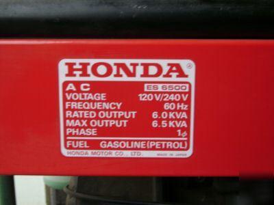 Honda ES6500 liquid cooled generator