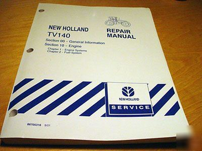 New holland TV140 engine & fuel service manual nh