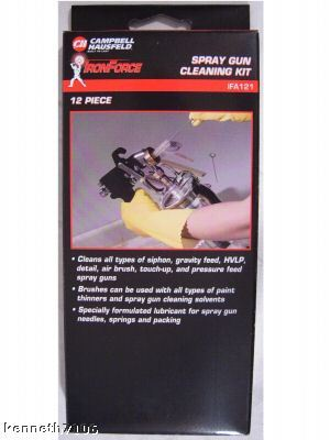 is for sale new spray gun cleaning kit clean paint air tools auto. Black Bedroom Furniture Sets. Home Design Ideas
