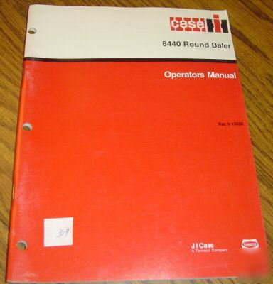 Case ih 8440 round baler operator's manual book