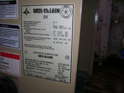 mclain gold gv water boiler series 4