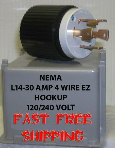 New L14 Generator Plug 4 Prong 10  12 Gauge Ez Hookup