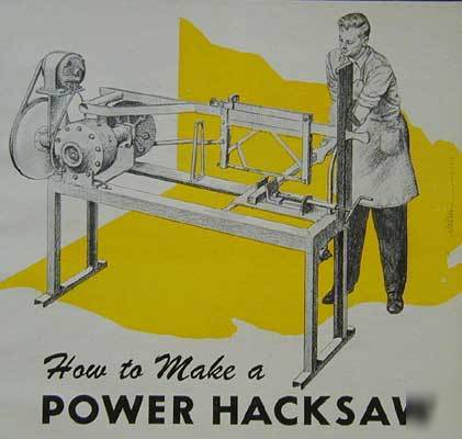 power hacksaw machine plans