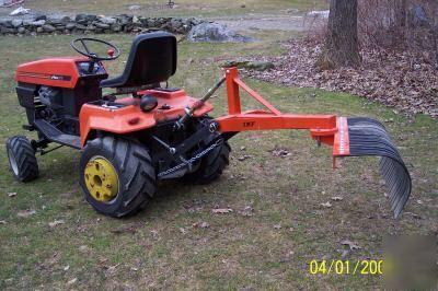 Garden Tractor Landscape Rake Garden Ftempo