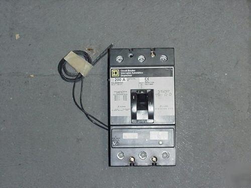 square d kal36200 w/shunt trip circuit breaker