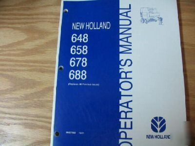 new holland 648 658 678 688 round baler operator manual rh parts recycling com new holland 658 round baler specs New Holland 630 Baler Problems