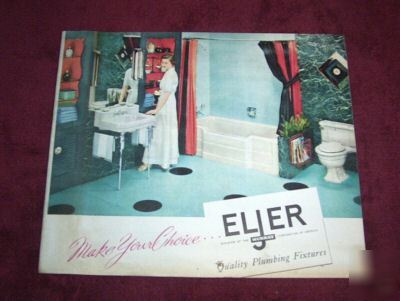Vintage 1954 eljer bath fixtures advertising brochure
