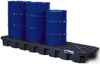 Gator spill control pallet- 4 drum in-line model 28704