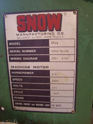 Mw-02 snow manufacturing tapper model st-1